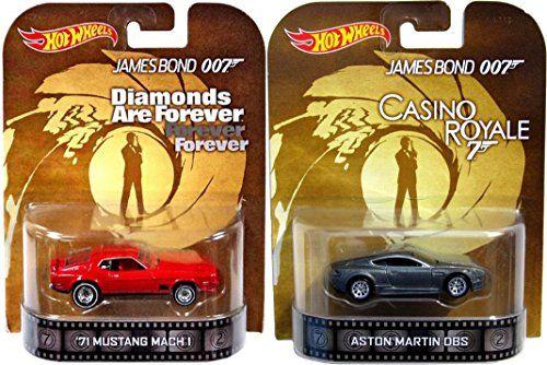 007 Casino Royale Diamonds are Forever Retro Entertainment Hot Wheels James Bond 2 car Aston Martin  @ niftywarehouse.com #NiftyWarehouse #Nerd #Geek #Entertainment #TV #Products