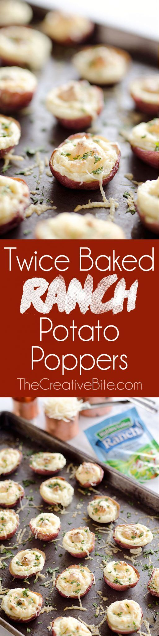 Twice Baked Ranch Potato Poppers are a crowd-pleaser with light and fluffy…