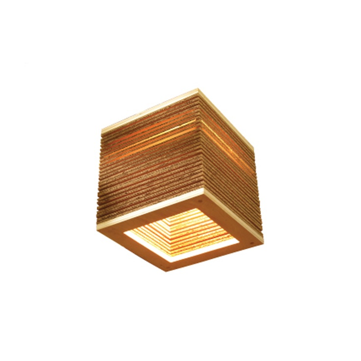 Cardboard Square Hanging Lamp