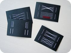 Binding test cards by lemonyfrog, via Flickr -- great idea!!