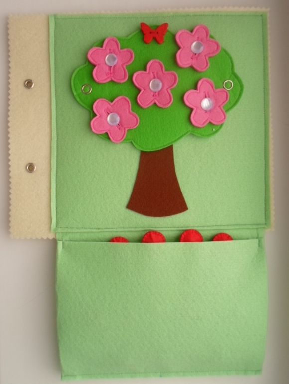 еще одна развивающая книжка:)  I really like this idea of a changing tree.