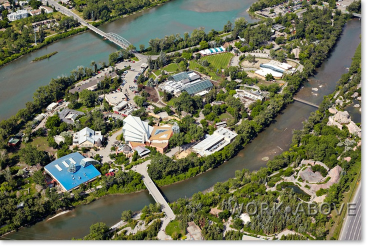 The Calgary Zoo! St. George's Island surrounded by the Bow river in Calgary Alberta. Worth a visit.
