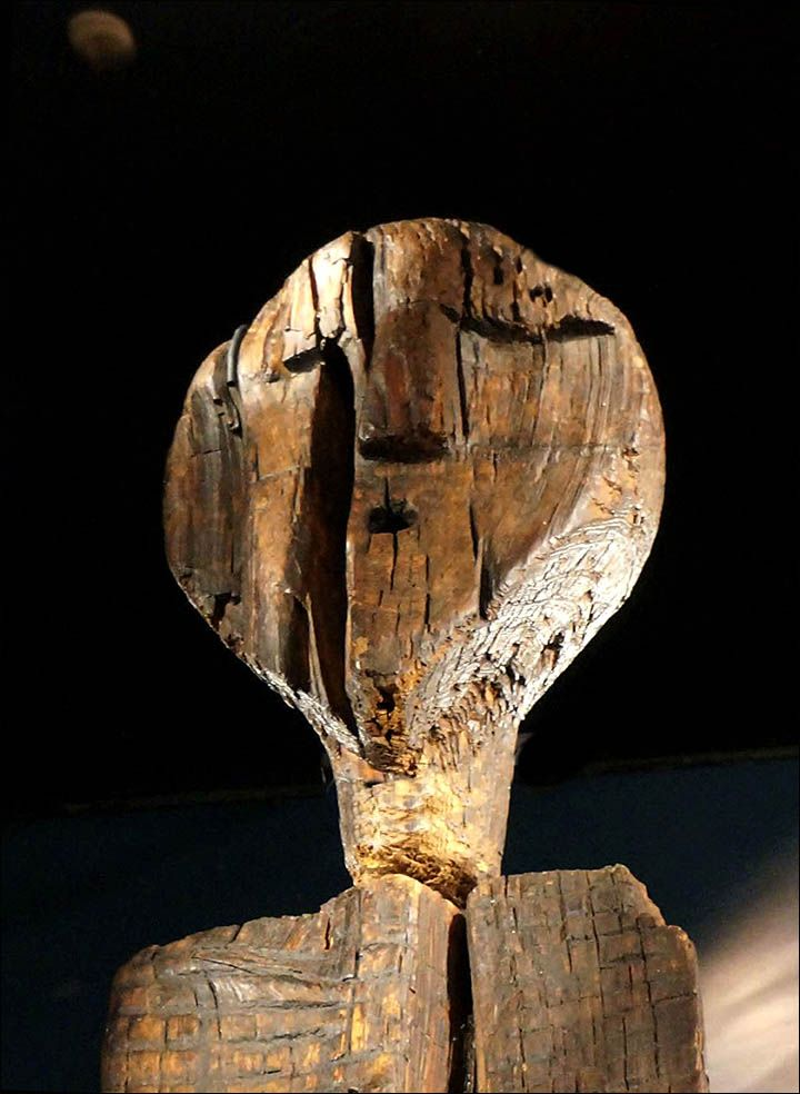 The Mesolithic Siberian Idol is the oldest wooden statue in the world, estimated as having been constructed approximately 9,500 years ago