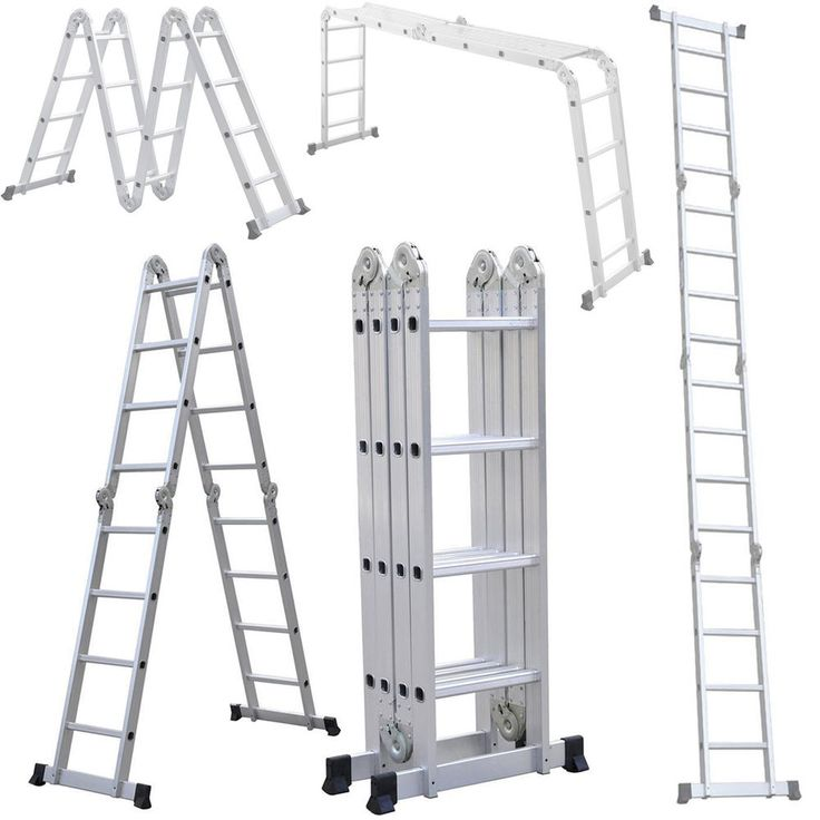 15ft Sturdy Multi Purpose Aluminum Extension Ladder Scaffolding Platform Step #UnbrandedGeneric