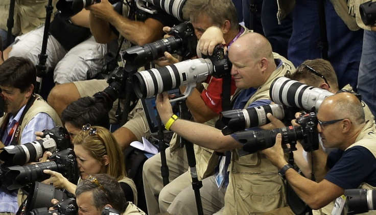 There it is!  The new Canon 20-400 f/4L IS 1.4x lens (on loan at the London Olympic games)