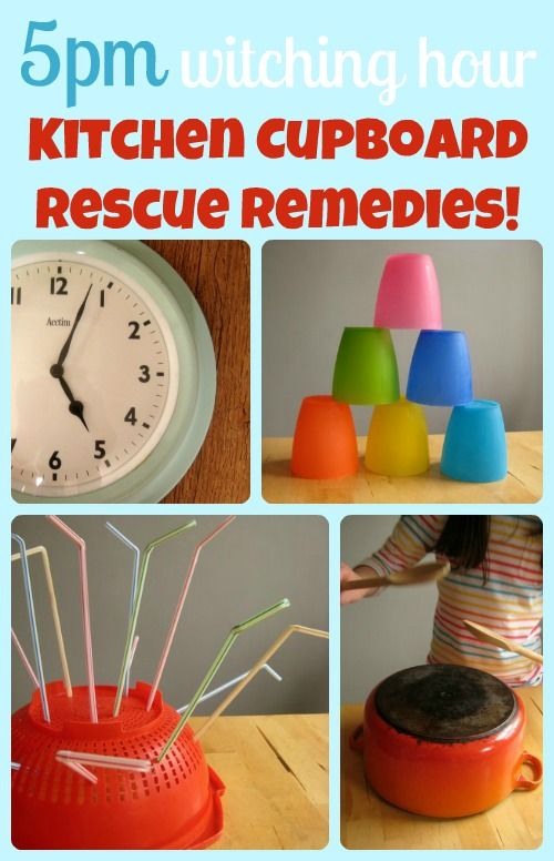 Do you have a 5pm-ish Cranky Hour? Love these ideas for keeping kids happy when that witching hour arrives. Quick and clever remedies.