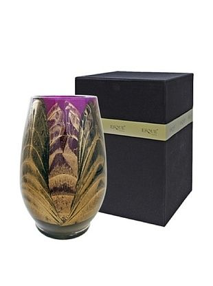 48% OFF Northern Lights Candles Esque Harmony Candle & Floral Vase, Ebony/Amethyst
