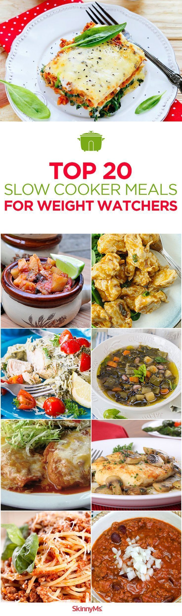 When you're choosing slow cooker weight loss meals, you'll benefit in two huge ways. First, you get all the crockpot convenience you love. Prepare the ingredients in the morning or at lunch, and then come home to a warm dinner, ready to serve. Here are our Top 20 Slow Cooker Meals for Weight Watchers! #slowcooker #cleaneating #healthyeats