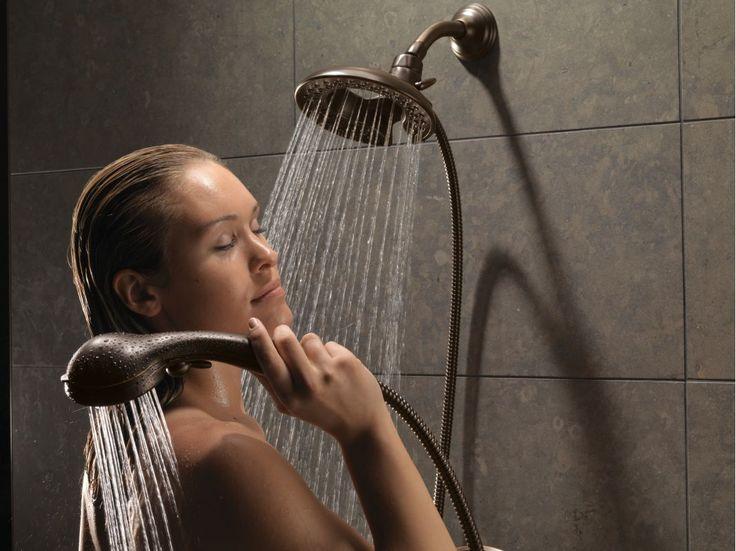 Delta-58045-Running Shower Head and Handshower in Venetian Bronze in  Full Size