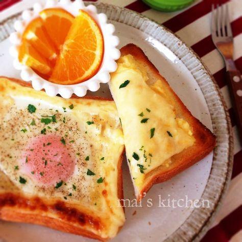 人気の食パン アレンジレシピ♡明太ポテトチーズトーストと目玉焼きトーストの朝ごパン♡
