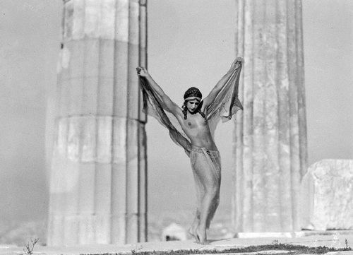 ourladyofperpetualastonishment: Nude on the Acropolis, photo by...
