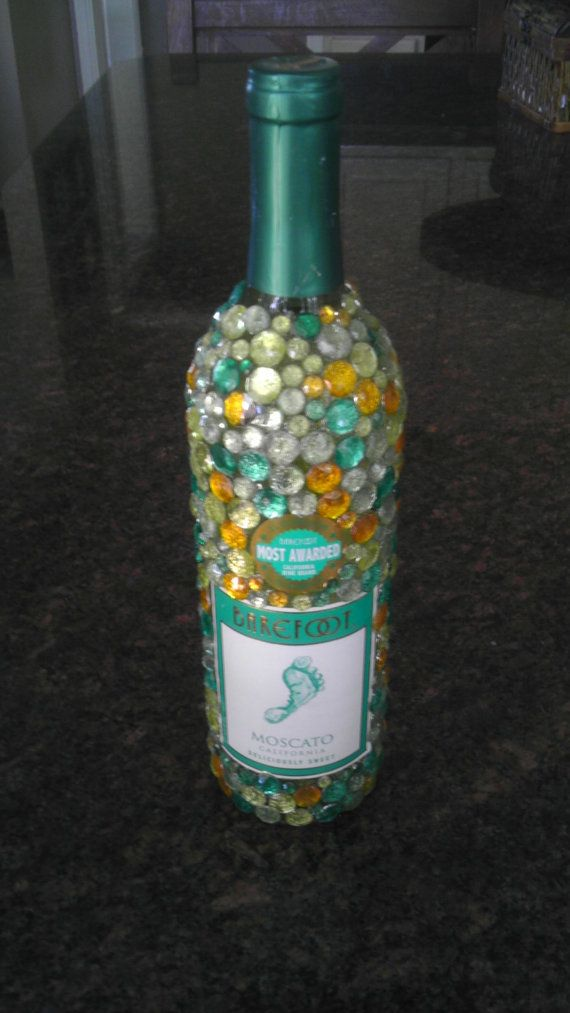 1000 images about bedazzled booze bottles and other diy for Diy wine bottle gifts
