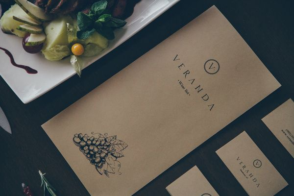 Veranda restaurant visual identity on Behance