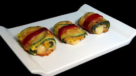 Cocinar para los amigos: Calabacines rellenos de jamón y queso