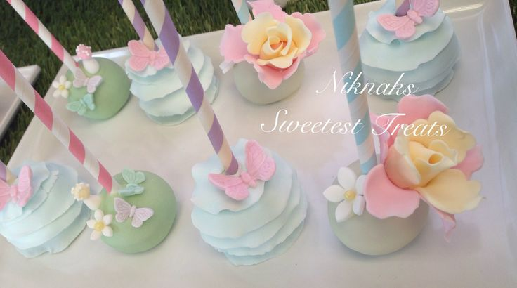 Pretty fairy themed cake pops by Niknaks Sweetest Treats