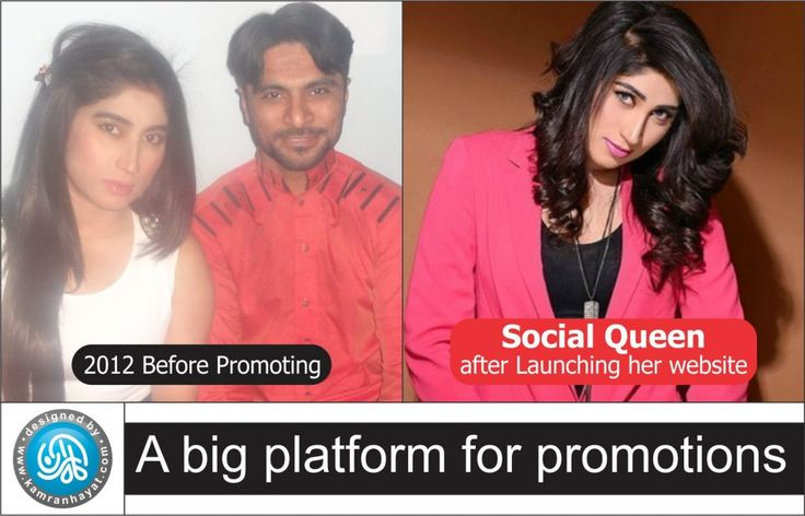 Qandeel Baloch promoted through website by Kamran Hayat on social media:http://kamranhayat.com/index.php/2017/03/07/qandeel-baloch-promoted-through-website-by-kamran-hayat-on-social-media/