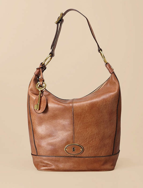 Lovely Fossil Hobo purse in Camel.
