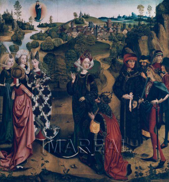 1480 Unknown artist - Weissagung der Tiburtinischen Sibylle an Kaiser Augustus 1480s