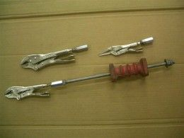 Slide Hammer Vise-Grips - Homemade Vise-grip adaptors intended to enable their use with a slide hammer.