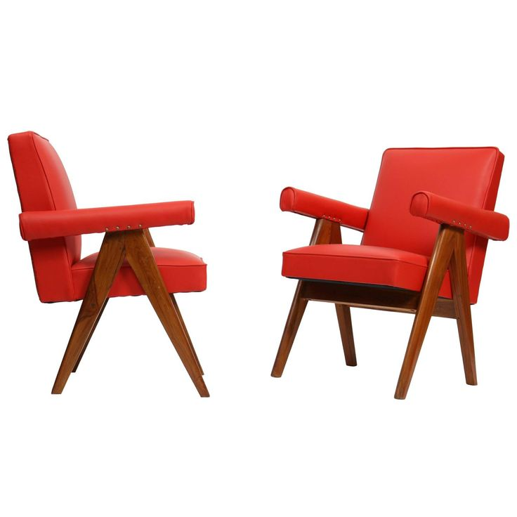 """Pierre Jeanneret Set of Two """"Senate-Committee"""" Chairs"""