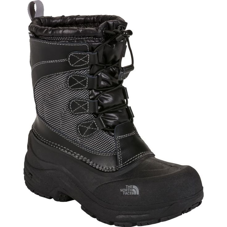 The North Face Kids' Alpenglow Lace Waterproof Winter Boots, Black