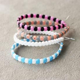 Learn how to make a Hama bead bracelet - the easy way!