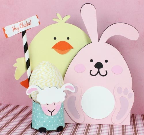 104 best easter crafts decor images on pinterest easter crafts create cute bunny and chick gift cards for easter using glue dots and svg cuts from negle Images