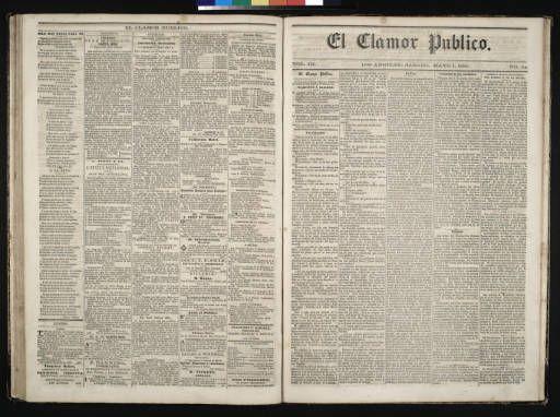 El Clamor Publico, vol. III, no. 44, Mayo 1 de 1858 :: El Clamor Publico Collection, 1855-1859