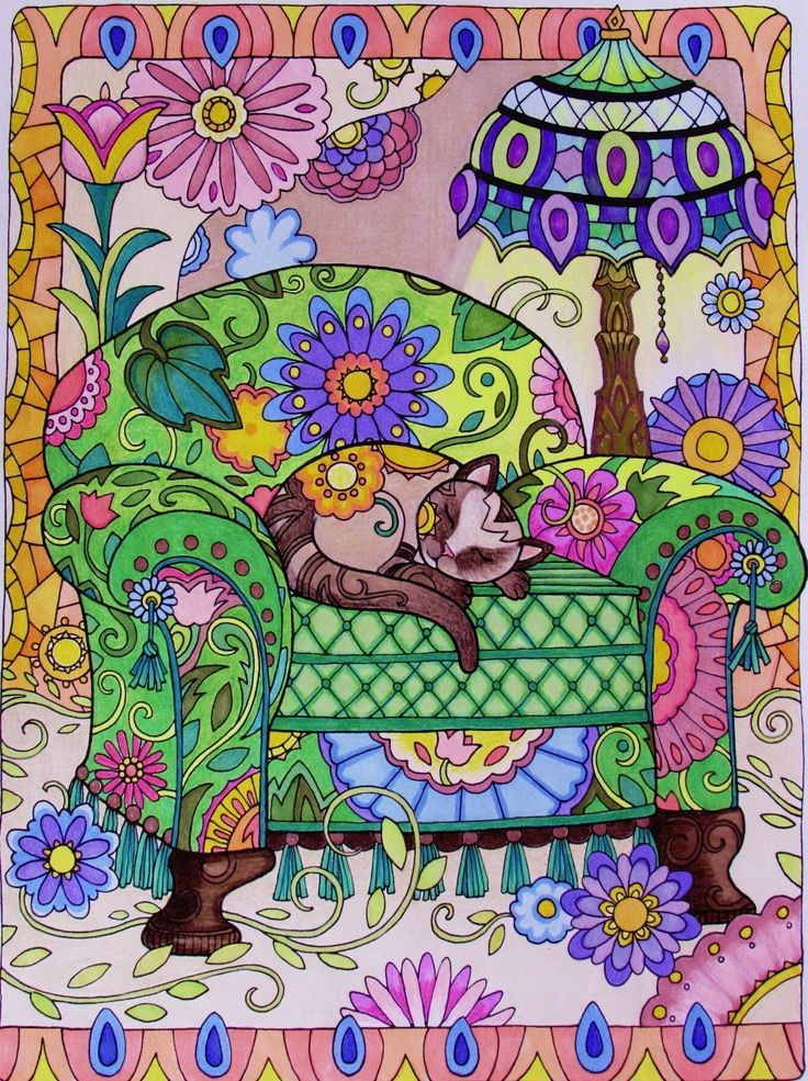 Creative haven creative cats coloring book creative haven coloring books marjorie sarnat