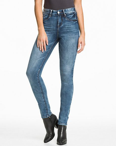 Stretch+Denim+Slim+Leg+Pant