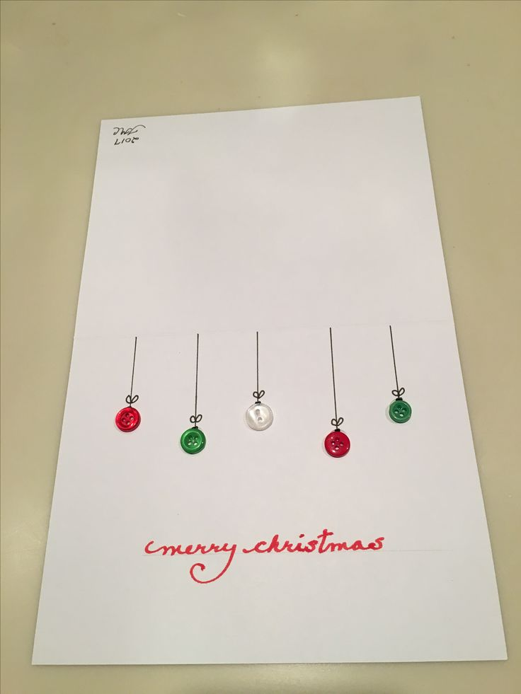 This is the Christmas card I made, super easy!