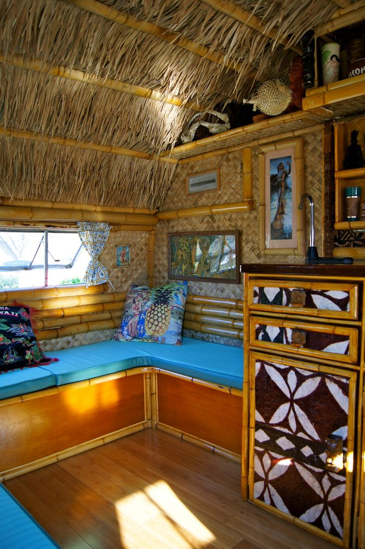 tiki camper Now were talking Two of my favoritesTikiSouth Pacific theme and camping