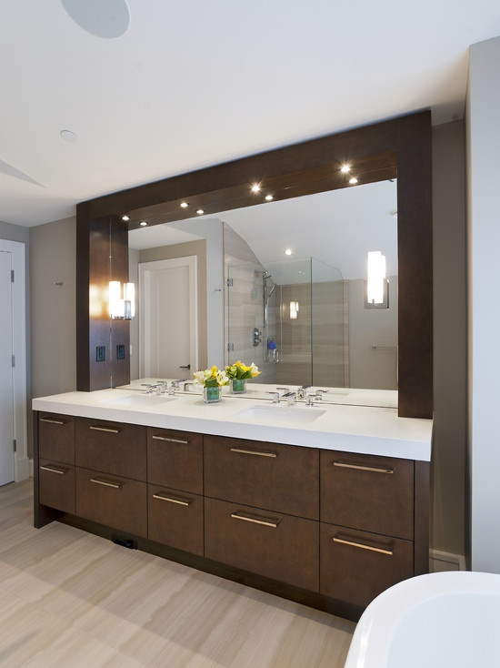 Modern Spaces Master Bathroom Makeup Vanities Design Pictures Remodel Decor And Ideas