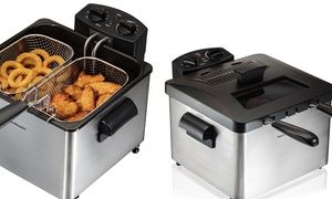 Professional-style deep fryer easily cooks up chicken, french fries, and other classic comfort foods