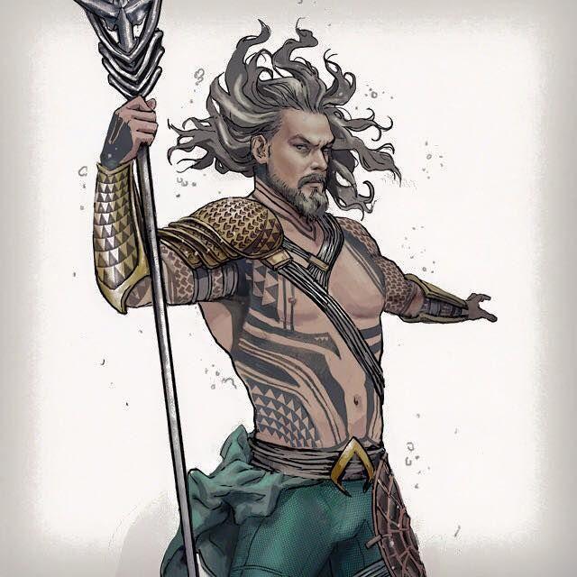 New Jason Momoa-Aquaman character design - FanArt