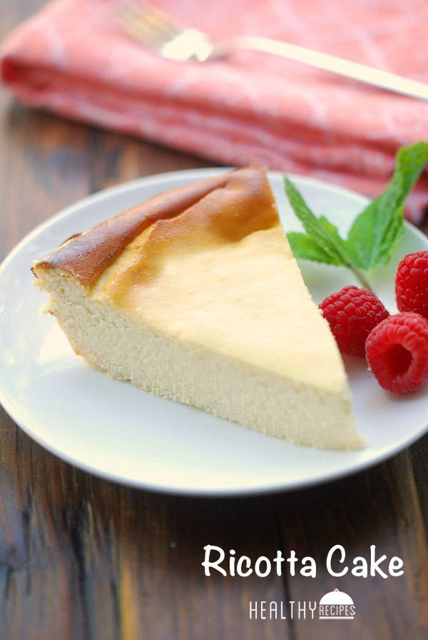 Ricotta Cake - Ricotta cake is a light and delicate cheesecake. While not as creamy as regular cheesecake, it's very good. Serve alone, or with fresh berries.