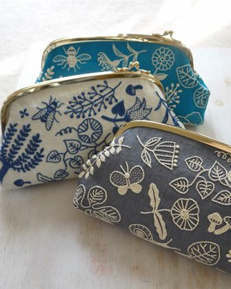 BotanicalGarden-Pouch Ymiko Higuchi (embroidering fabric, the making pouches)