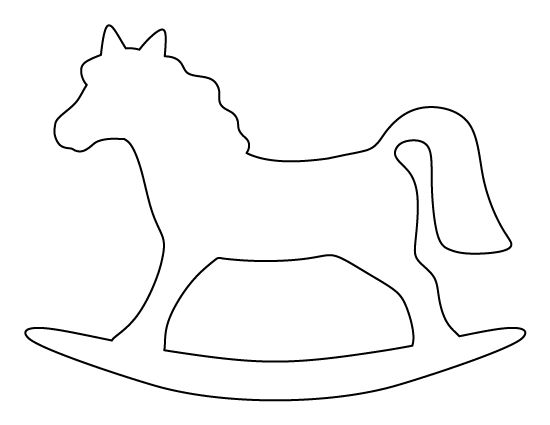 rocking horse pattern  use the printable outline for