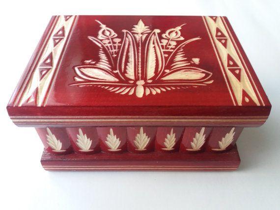 Rompecabezas de madera nueva rojo caja, caja mágica, Alhajero tallado especial, cuadro de misterio del asistente, caja de secretos, caja complicada, tallada caja de madera, regalo perfecto, juguete