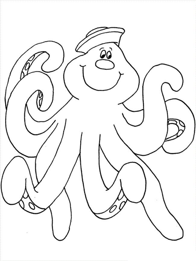 Preschool Free Printable Octopus Coloring Pages For Kids For