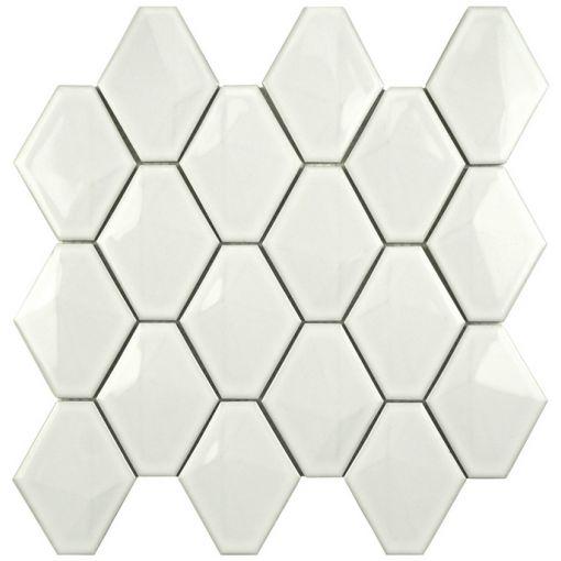 Płytki ceramiczne na ścianę diamond w kolorze białym