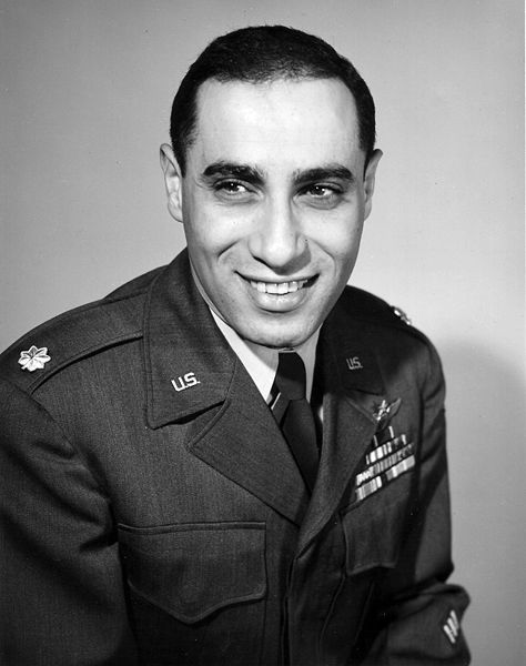 "A Crafty Arab: Arab Americans You Already Know - James Jabara. James ""Jabby"" Jabara was the first American (Lebanese American) and US Air Force jet ace in history. Born in OK, he lived in KS where he enlisted as an aviation cadet at Fort Riley. Jabara attended four flying schools in TX before he received his pilot's wings. Jabara flew two tours of combat duty in Europe during WWII as a P-51 Mustang pilot, and scored 1.5 air victories against German aircraft."
