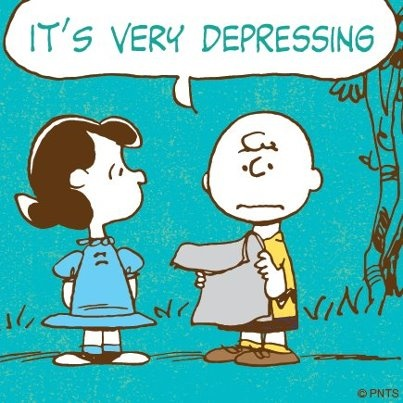 Monday again? #Peanuts #CharlieBrown #Lucy #Depressing
