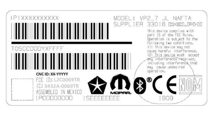 FCC ID L2C0069TR Automotive radio with Bluetooth by Delphi Electronics & Safety