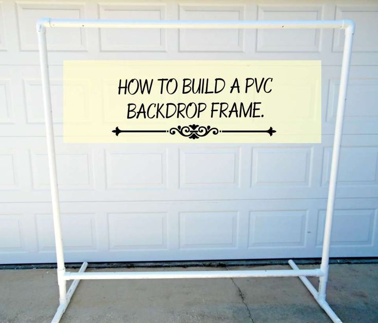 Freestanding diy pvc backdrop how to hang your paper