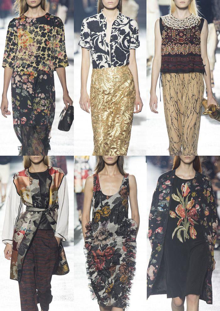 Dries Van Noten - Paris Fashion Week - Spring/Summer 2014 - Print Highlights Part 1