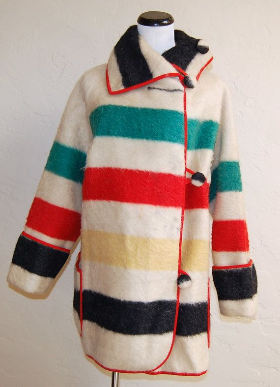 Reserved Very Rare Vintage 1920s Hudson S Bay Blanket Coat