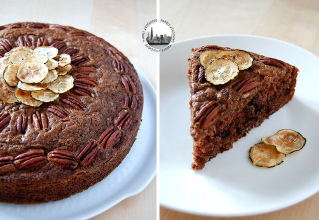 Zucchini Cake with pecans and chocolate chips, delicious!