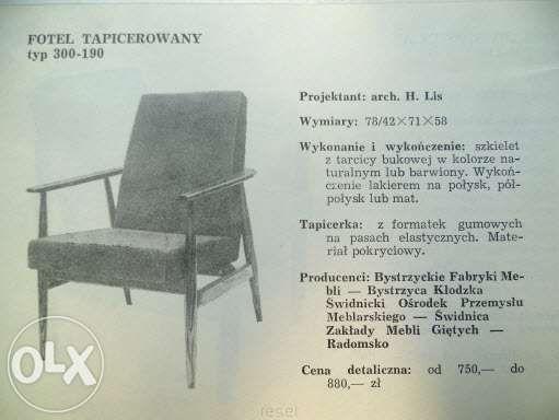 fotel klasyk fotel prl 3szt. Hanna Lis z lat 70 typ 300-190 Pruszcz Gdański - image 4