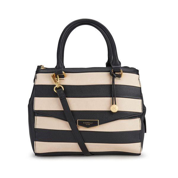 Fiorelli Women's Mia Grab Bag - Mono (350 HRK) ❤ liked on Polyvore featuring bags, handbags, shoulder bags, shoulder strap handbags, structured purse, fiorelli purses, fiorelli handbags and strap purse